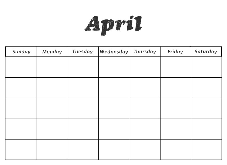 April Calendar Numbers For Preschool : Printable preschool calendars