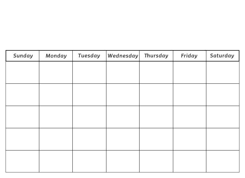 Blank Printable Calendar  WowcircleTk