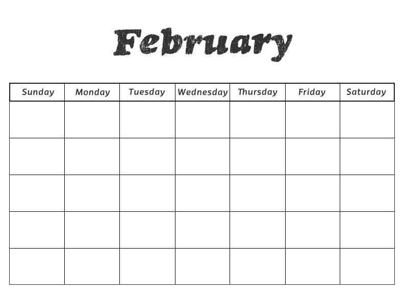 February 2018 Calendar Kindergarten : Printable preschool calendars