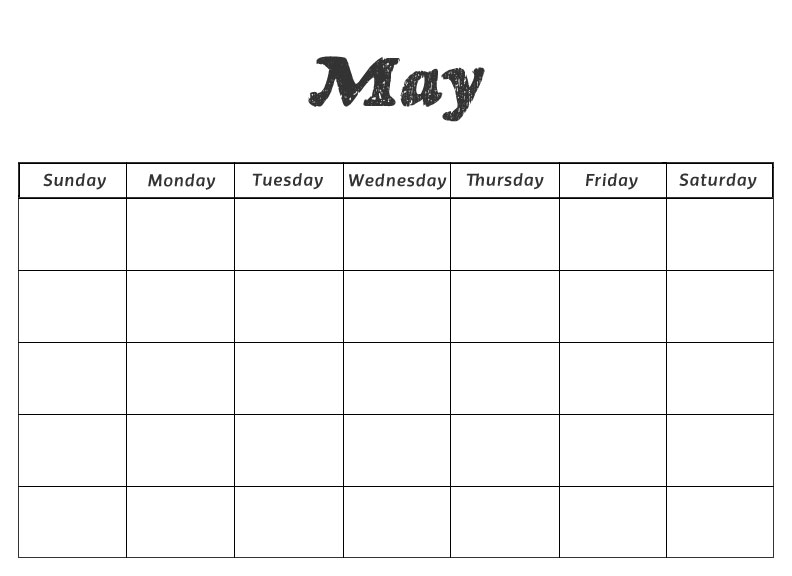 May Calendar Numbers Printable : Printable preschool calendars