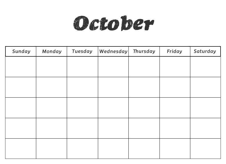 Printable October Calendar Kindergarten : October worksheets for preschool children « the best