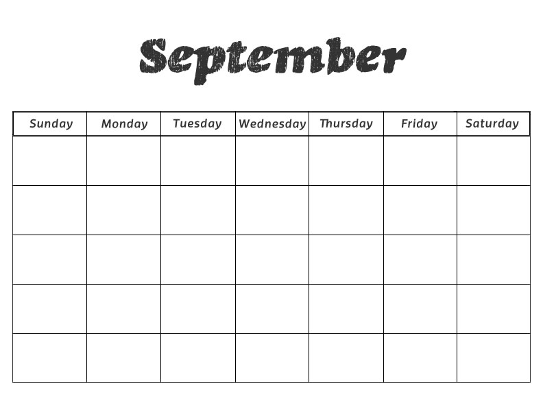 Calendar Printables Preschool : Free blank printable monthly calendars new calendar